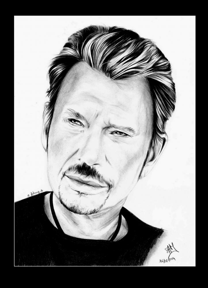 Portrait De Johnny Hallyday Par Samos17 Sur Stars Portraits
